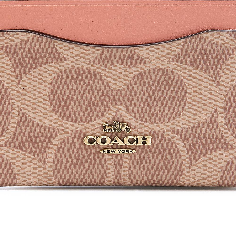 코치(COACH) 컬러블록 시그니처 31541 B4 TAN INK 여자 명함/카드지갑