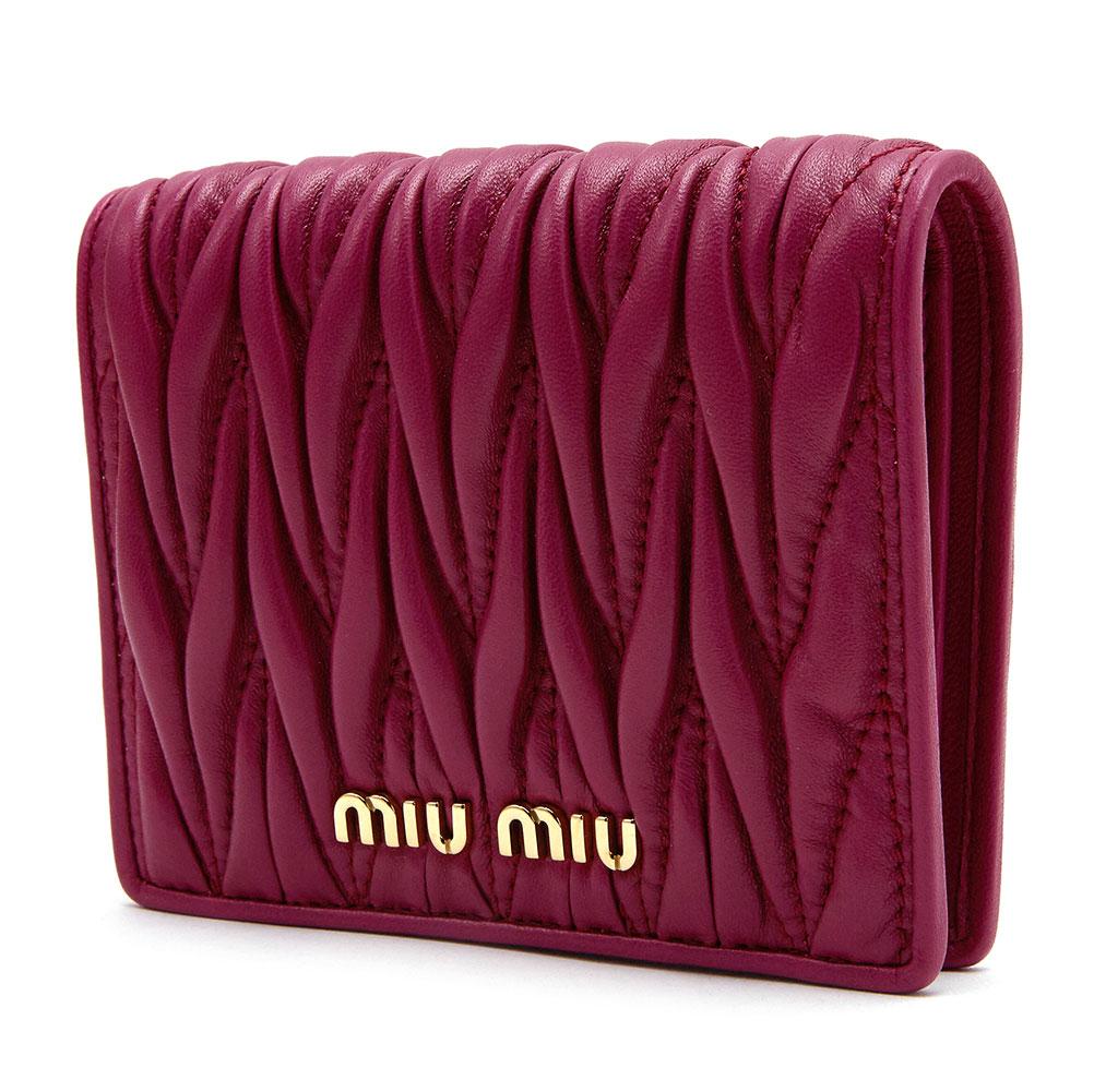 미우미우(MIU MIU) 마테라쎄 5MV204 N88 F0592 여자 반지갑