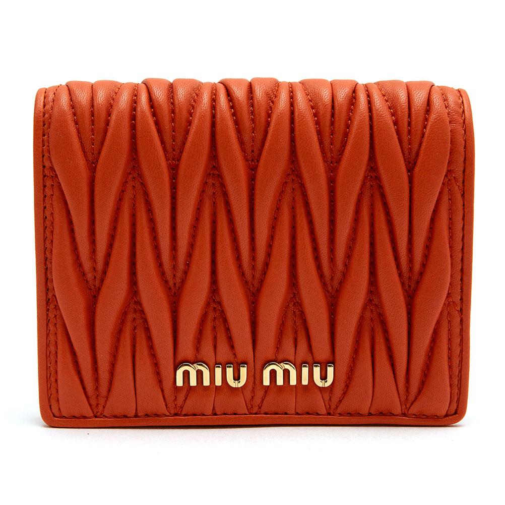 미우미우(MIU MIU) 마테라쎄 5MV204 N88 F0S73 여자 반지갑