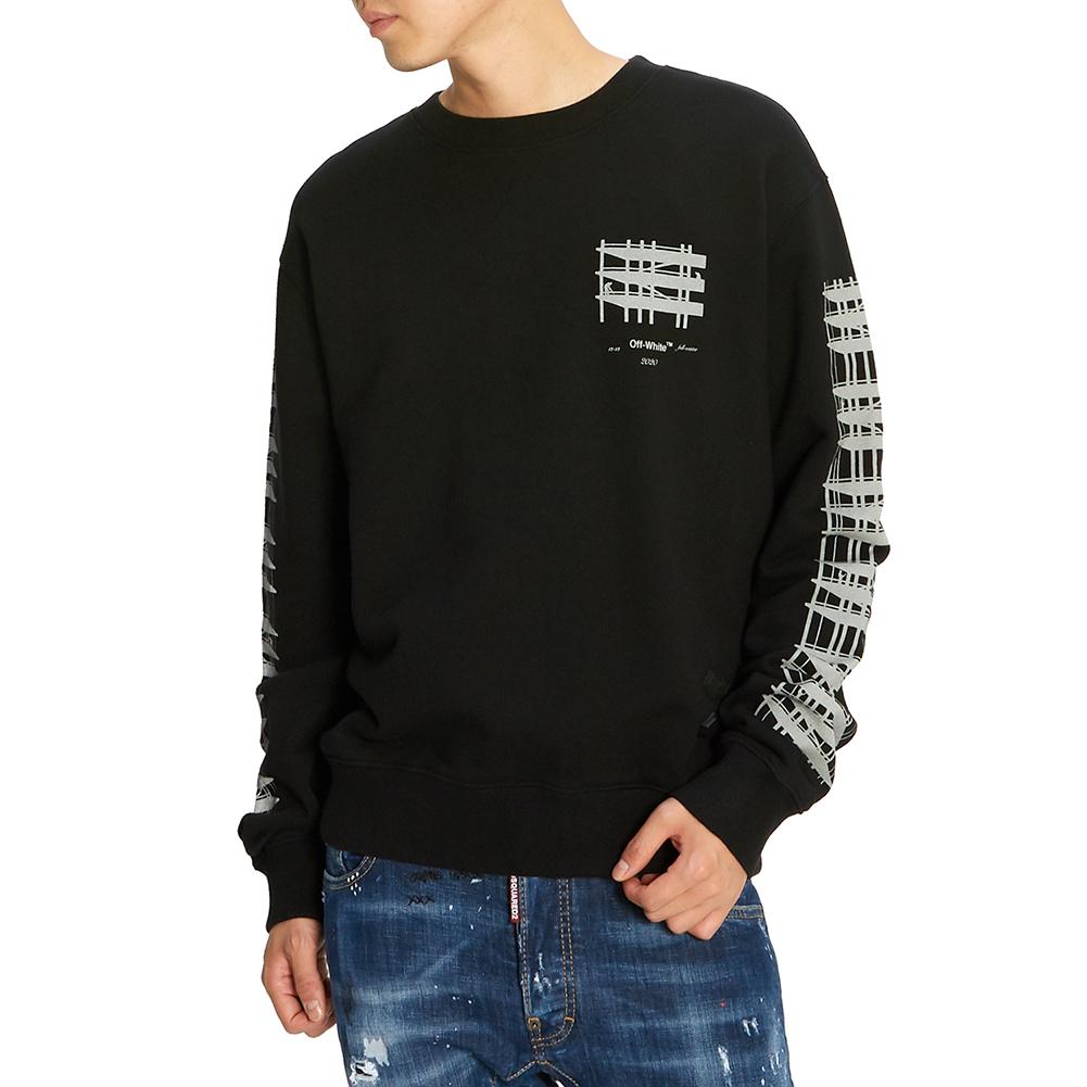 오프 화이트(Off White) 디아그 인더스트리얼 슬림 OMBA025E 19E30004 1091 남자 긴팔 기모 맨투맨 티셔츠