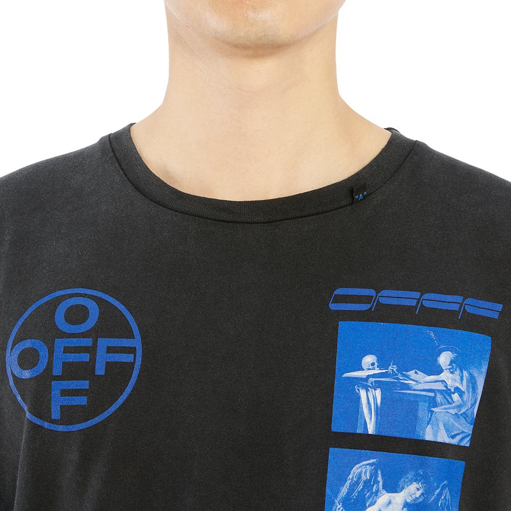 오프 화이트(Off White) 하드코어 카라바조 슬림 OMAA027F 19185009 1030 남자 반팔티셔츠