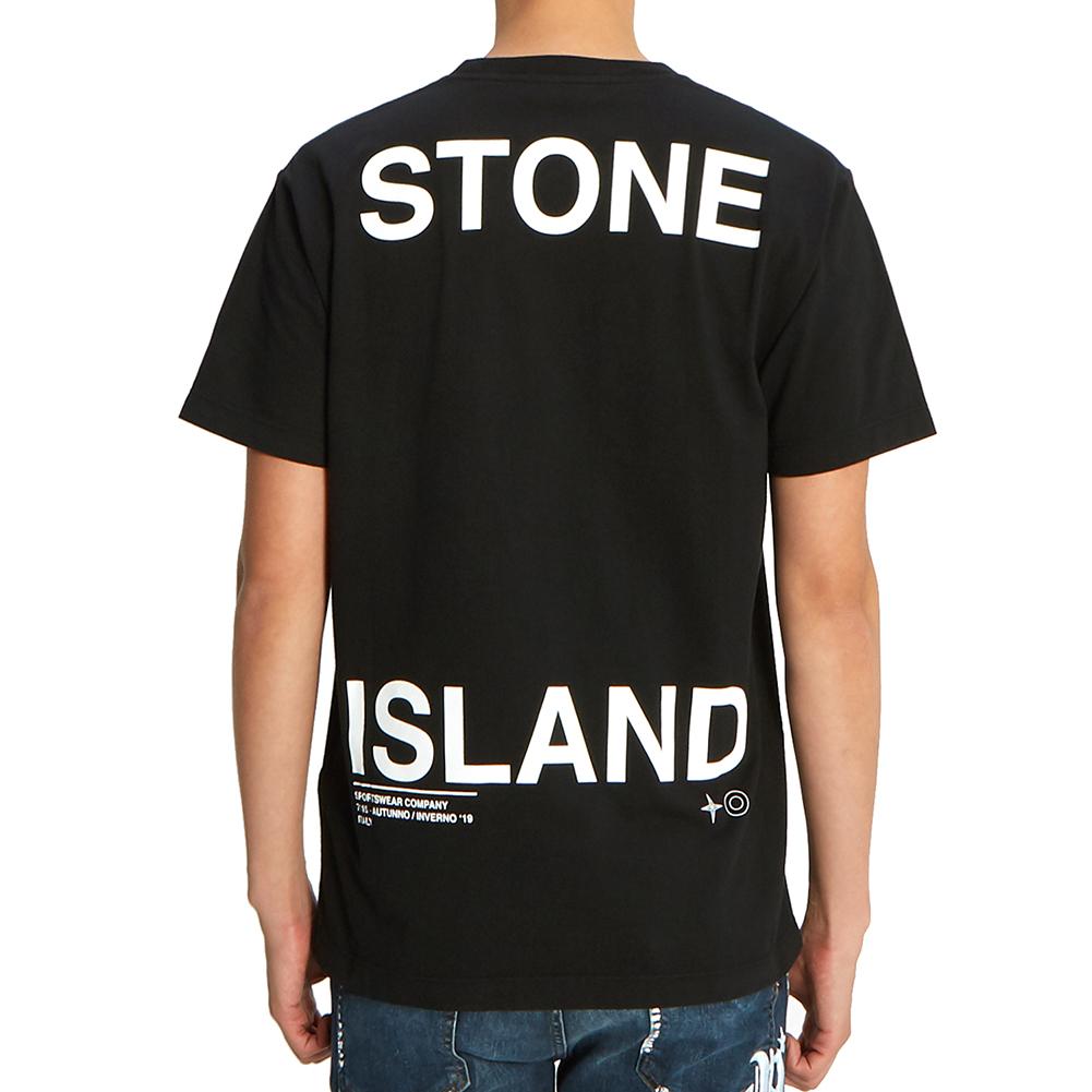 스톤아일랜드(STONE ISLAND) 그래픽 로고 71152NS85 V0029 남자 반팔티셔츠