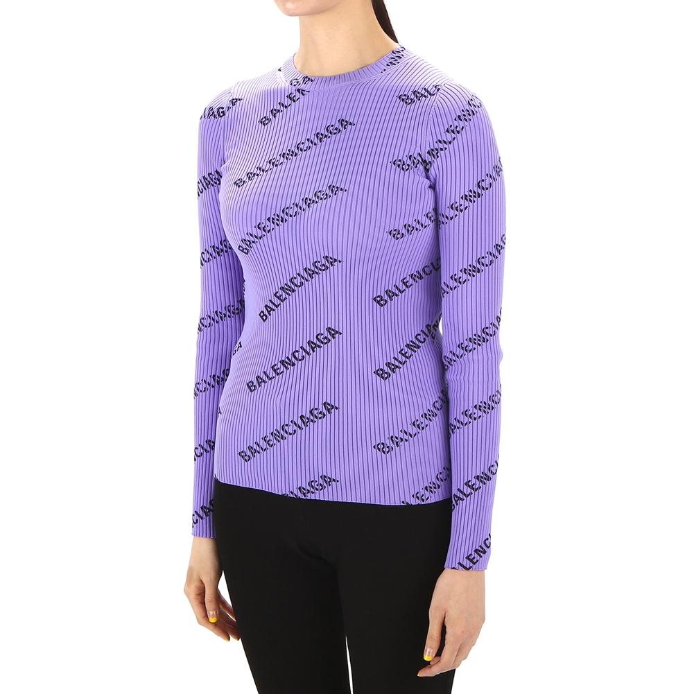 발렌시아가(BALENCIAGA) 올오버 로고 555321 T6140 5019 여자 니트 스웨터