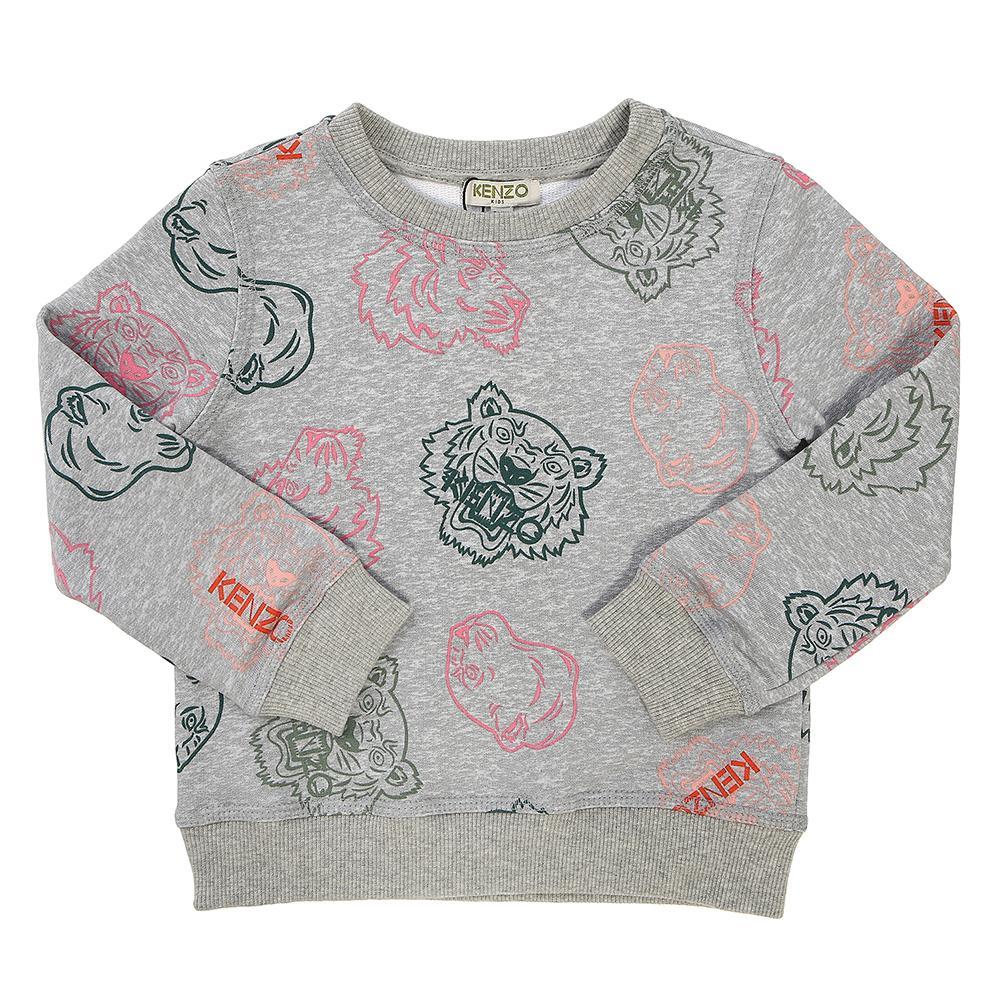겐조키즈(KENZO KIDS) 크레이지 정글 KP15168 25 5A6A 키즈 긴팔 맨투맨 티셔츠