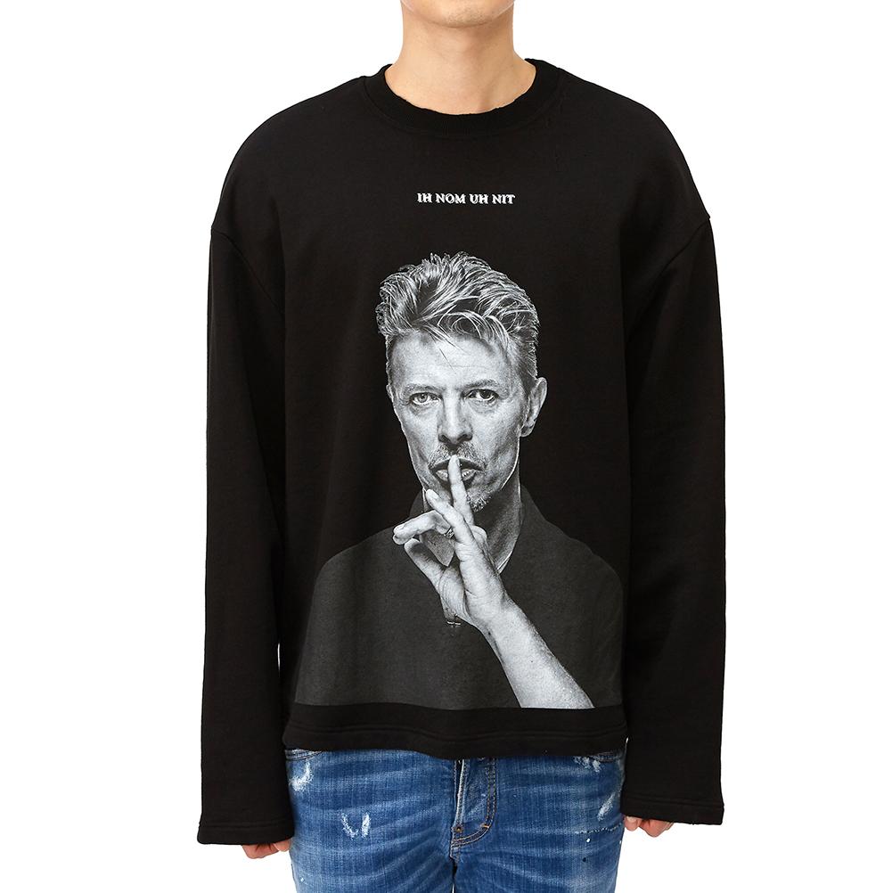 이놈어닛(IH NOM UH NIT) 데이비드 보위 사일런트 NUS19298 009 남자 긴팔 티셔츠
