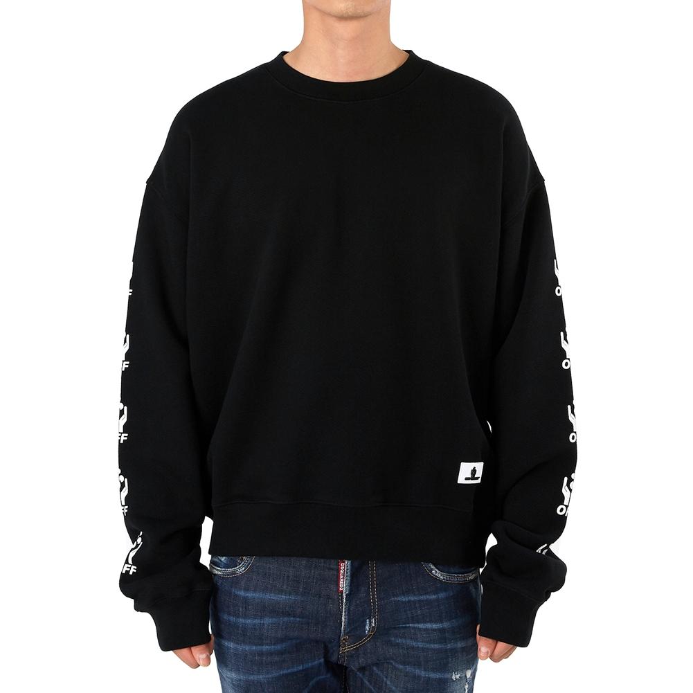 오프 화이트(Off White) 핸즈 오버 OMBA035S 19D25020 1088 남자 긴팔 맨투맨 티셔츠