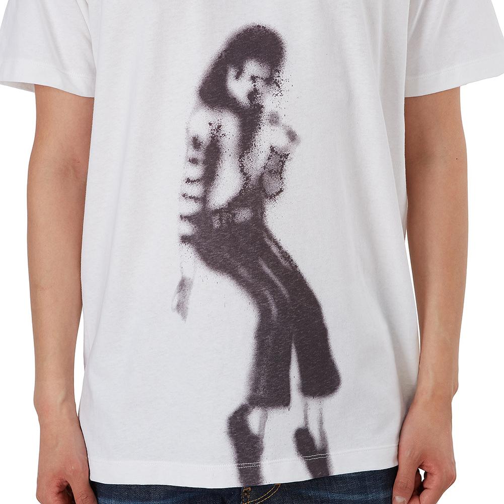 오프 화이트(Off White) MJ 마이클잭슨 슬림 OMAA027S 19185002 0110 남자 반팔티셔츠