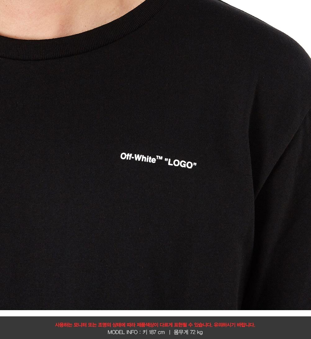 오프 화이트(Off White) 로고 슬림 OMAA027S 19185022 1001 남자 반팔티셔츠