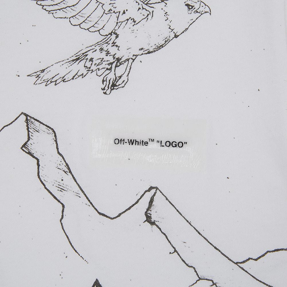 오프 화이트(Off White) 펜슬 이글 스키니 OMAA036S 19185010 0108 남자 반팔티셔츠