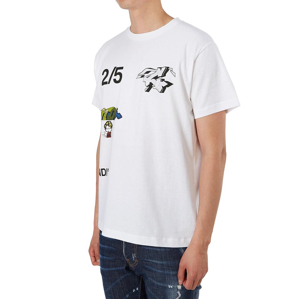 오프 화이트(Off White) 우먼 스키니 OMAA036S 19185012 0188 남자 반팔티셔츠