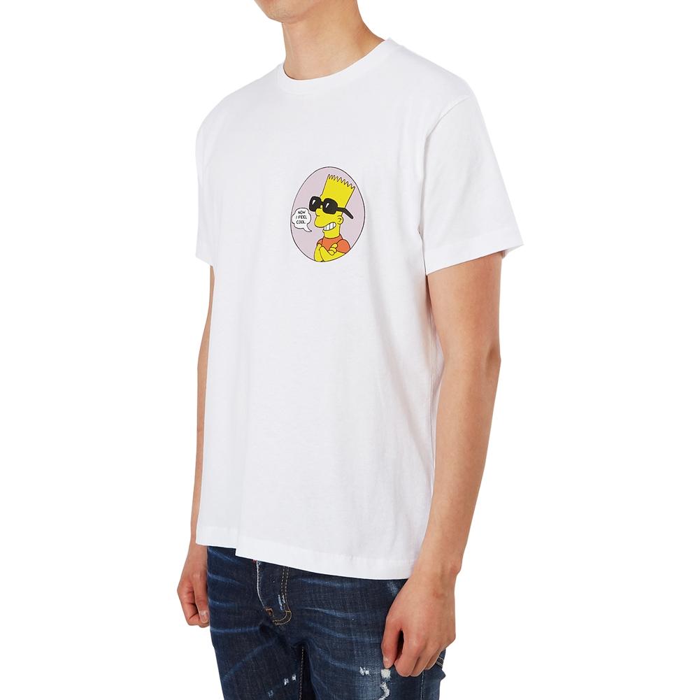 오프 화이트(Off White) 바트 퍼블릭 에너미 스키니 OMAA036S 19185033 0188 남자 반팔티셔츠