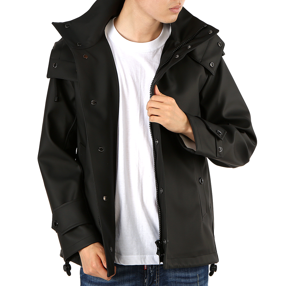 버버리(BURBERRY) 디태처블 HASTINGS 8009244 A6590 남자 후드 샤워프루프 자켓