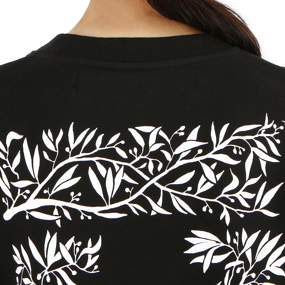 오프 화이트(Off White) 한나 리브 크롭 OWBA026S 19003059 1001 여자 긴팔 맨투맨 티셔츠