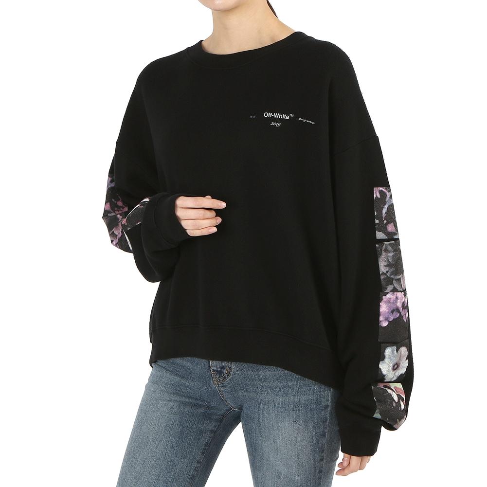 오프 화이트(Off White) 플라워 폴라 OWBA047S 19D97079 1088 여자 긴팔 맨투맨 티셔츠