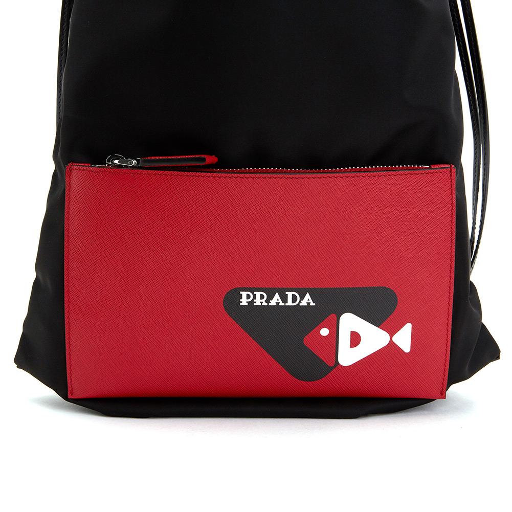 프라다(PRADA) 피쉬 드로우스트링 2VZ030 064 F0D9A OTO 공용 백팩