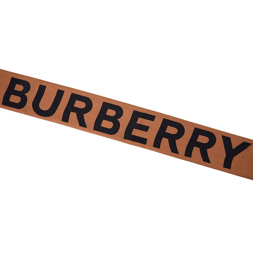 버버리(BURBERRY) 빈티지 체크 로고 VTG CHECK 8028950 실크 스키니 스카프